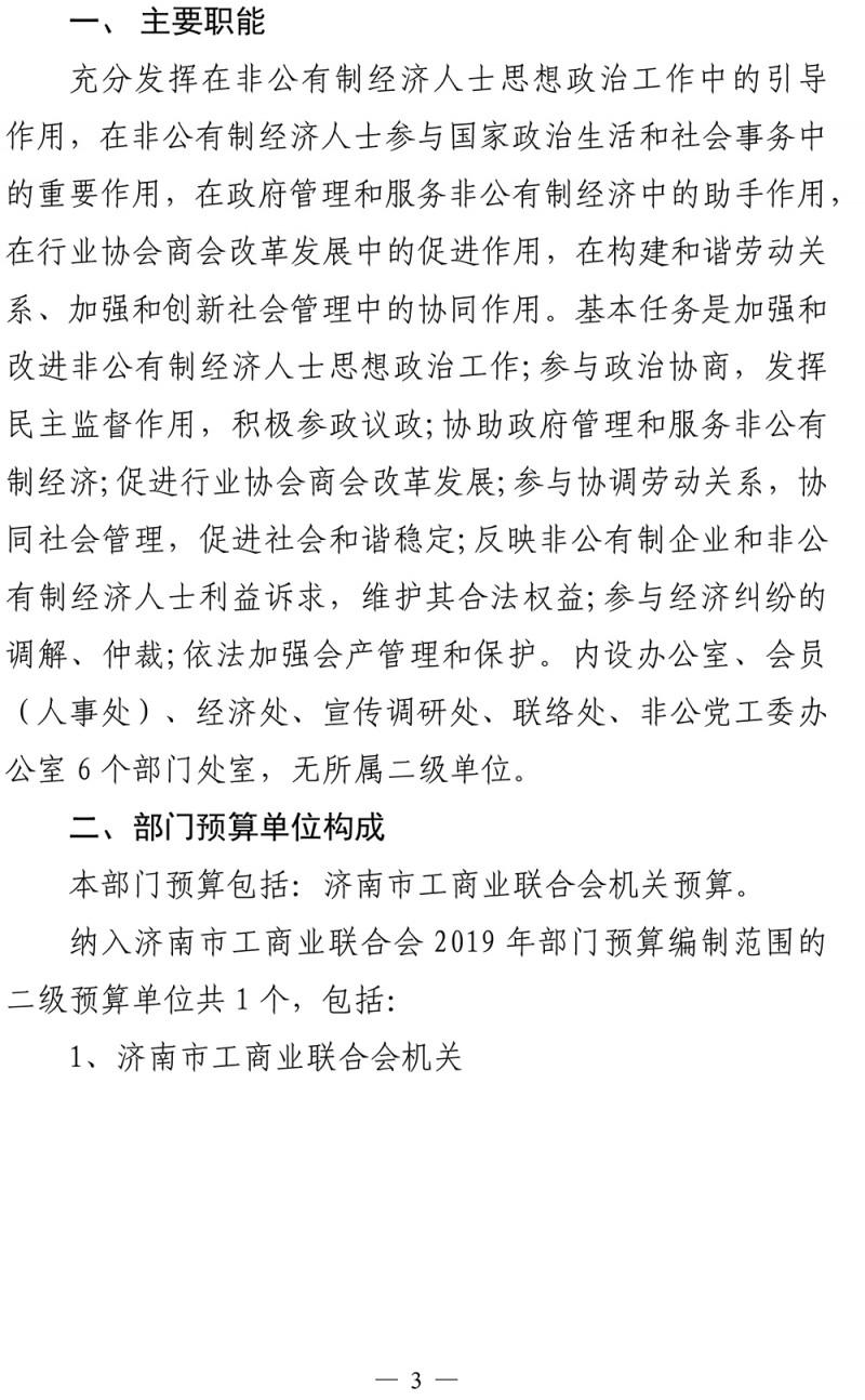2020年济南市工商业联合会部门预算-4